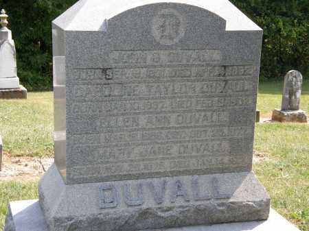 TAYLOR DUVALL, CAROLINE - Delaware County, Ohio | CAROLINE TAYLOR DUVALL - Ohio Gravestone Photos