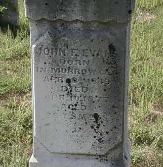 EVANS, JOHN F. - Delaware County, Ohio | JOHN F. EVANS - Ohio Gravestone Photos