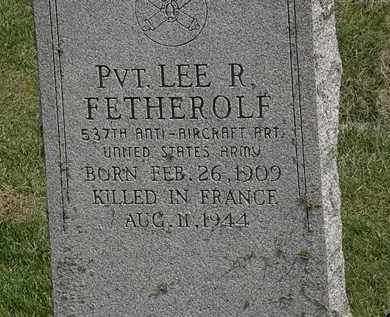 FETHEROLF, PVT. LEE R. - Delaware County, Ohio | PVT. LEE R. FETHEROLF - Ohio Gravestone Photos
