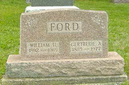 FORD, WILLIAM U. - Delaware County, Ohio | WILLIAM U. FORD - Ohio Gravestone Photos