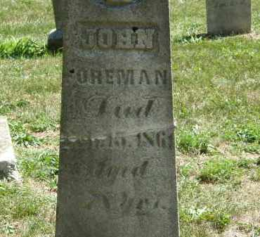 FOREMAN, JOHN - Delaware County, Ohio | JOHN FOREMAN - Ohio Gravestone Photos