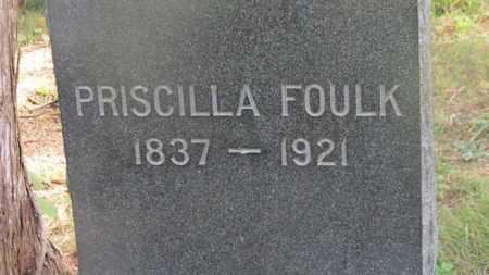 FOULK, PRISCILLA - Delaware County, Ohio   PRISCILLA FOULK - Ohio Gravestone Photos
