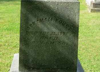 FOUST, ABRAHAM - Delaware County, Ohio | ABRAHAM FOUST - Ohio Gravestone Photos