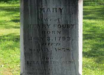 FOUST, MARY - Delaware County, Ohio | MARY FOUST - Ohio Gravestone Photos