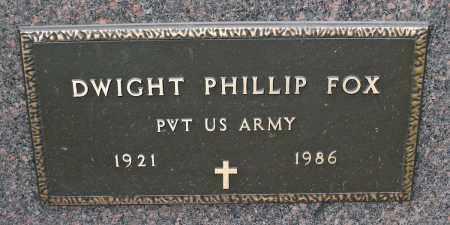 FOX, DWIGHT PHILLIP - Delaware County, Ohio | DWIGHT PHILLIP FOX - Ohio Gravestone Photos