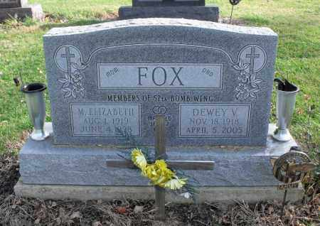 FOX, DEWEY V. - Delaware County, Ohio | DEWEY V. FOX - Ohio Gravestone Photos