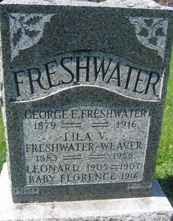 FRESHWATER, GEORGE E. - Delaware County, Ohio | GEORGE E. FRESHWATER - Ohio Gravestone Photos