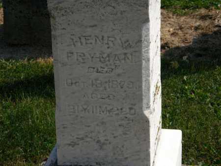 FRYMAN, HENRY - Delaware County, Ohio | HENRY FRYMAN - Ohio Gravestone Photos