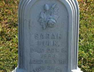 FULK, SARAH - Delaware County, Ohio | SARAH FULK - Ohio Gravestone Photos