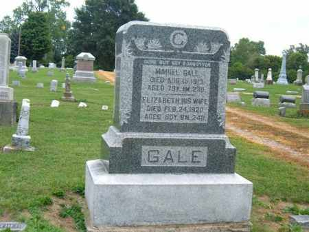 GALE, ELIZABETH - Delaware County, Ohio | ELIZABETH GALE - Ohio Gravestone Photos