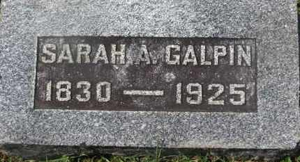 GALPIN, SARAH A. - Delaware County, Ohio | SARAH A. GALPIN - Ohio Gravestone Photos