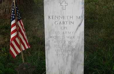 GARTIN, KENNETH M. - Delaware County, Ohio | KENNETH M. GARTIN - Ohio Gravestone Photos