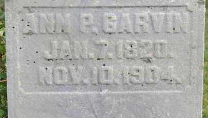 GARVIN, ANN P. - Delaware County, Ohio | ANN P. GARVIN - Ohio Gravestone Photos