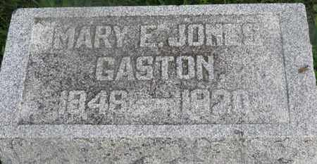 JONES GASTON, MARY E. - Delaware County, Ohio | MARY E. JONES GASTON - Ohio Gravestone Photos