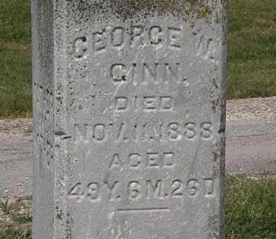 GINN, GEORGE W. - Delaware County, Ohio | GEORGE W. GINN - Ohio Gravestone Photos