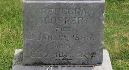 GOSNER, REBECCA - Delaware County, Ohio | REBECCA GOSNER - Ohio Gravestone Photos