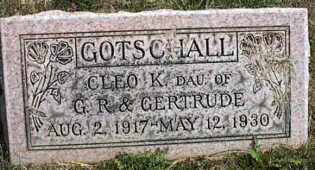 GOTSCHALL, CLEO K. - Delaware County, Ohio | CLEO K. GOTSCHALL - Ohio Gravestone Photos