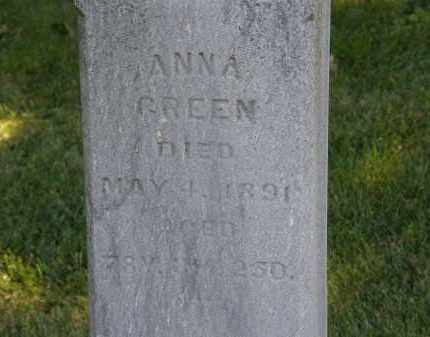 GREEN, ANNA - Delaware County, Ohio | ANNA GREEN - Ohio Gravestone Photos