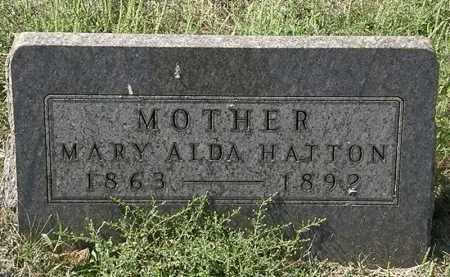 HATTON, MARY ALDA - Delaware County, Ohio | MARY ALDA HATTON - Ohio Gravestone Photos