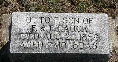HAUCK, OTTO F. - Delaware County, Ohio | OTTO F. HAUCK - Ohio Gravestone Photos
