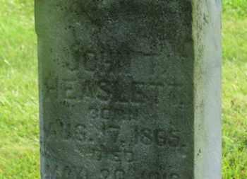 HEASLETT, JOHN T. - Delaware County, Ohio | JOHN T. HEASLETT - Ohio Gravestone Photos