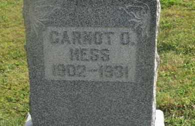 HESS, CARNOT D. - Delaware County, Ohio | CARNOT D. HESS - Ohio Gravestone Photos