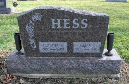 HESS, JAMES LEONARD - Delaware County, Ohio | JAMES LEONARD HESS - Ohio Gravestone Photos