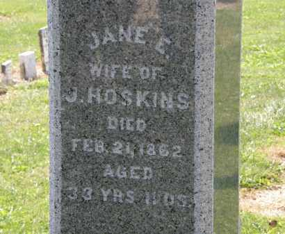 HOSKINS, JANE E. - Delaware County, Ohio | JANE E. HOSKINS - Ohio Gravestone Photos