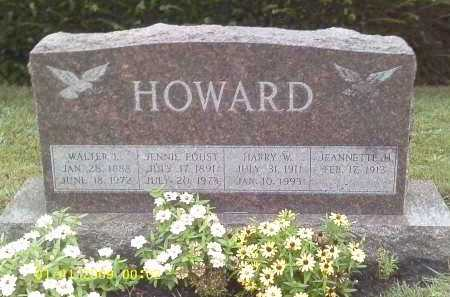 FOUST HOWARD, JENNIE - Delaware County, Ohio | JENNIE FOUST HOWARD - Ohio Gravestone Photos