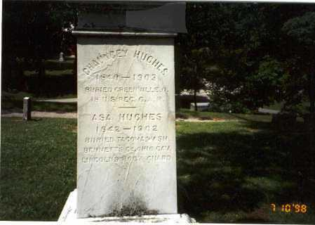 HUGHES, CHAUNCEY - Delaware County, Ohio | CHAUNCEY HUGHES - Ohio Gravestone Photos