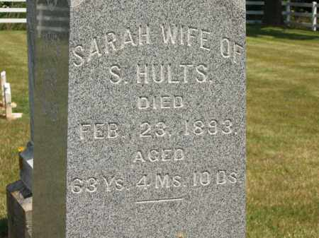 HULTS, SARAH - Delaware County, Ohio | SARAH HULTS - Ohio Gravestone Photos