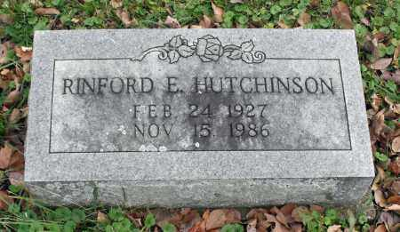 HUTCHINSON, RINFORD E. - Delaware County, Ohio | RINFORD E. HUTCHINSON - Ohio Gravestone Photos