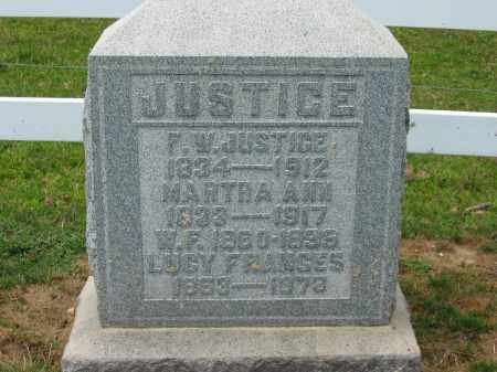 JUSTICE, MARTHA ANN - Delaware County, Ohio | MARTHA ANN JUSTICE - Ohio Gravestone Photos