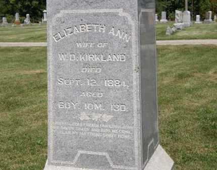 KIRKLAND, ELIZABETH ANN - Delaware County, Ohio | ELIZABETH ANN KIRKLAND - Ohio Gravestone Photos