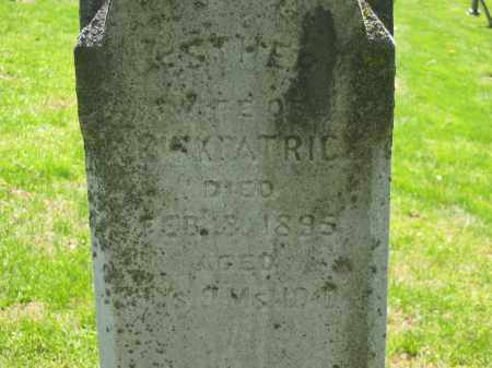 KIRKPATRIC, ESTHER - Delaware County, Ohio | ESTHER KIRKPATRIC - Ohio Gravestone Photos