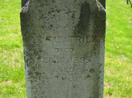 KIRKPATRICK, ESTHER - Delaware County, Ohio | ESTHER KIRKPATRICK - Ohio Gravestone Photos