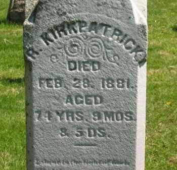 KIRKPATRICK, R. - Delaware County, Ohio | R. KIRKPATRICK - Ohio Gravestone Photos