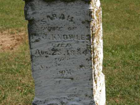 KNOWLES, SARAH - Delaware County, Ohio | SARAH KNOWLES - Ohio Gravestone Photos