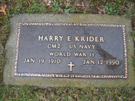 KRIDER, HARRY E - Delaware County, Ohio | HARRY E KRIDER - Ohio Gravestone Photos