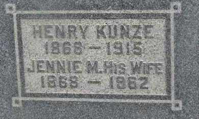 KUNZE, JENNIE M. - Delaware County, Ohio | JENNIE M. KUNZE - Ohio Gravestone Photos
