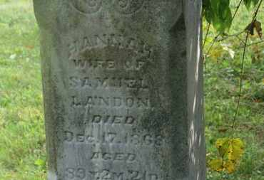 LANDON, HANNAH - Delaware County, Ohio | HANNAH LANDON - Ohio Gravestone Photos