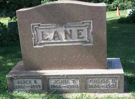 LANE, JOHN THOMAS - Delaware County, Ohio | JOHN THOMAS LANE - Ohio Gravestone Photos