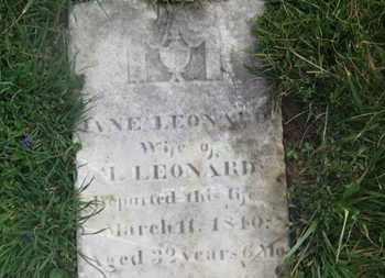 LEONARD, I. (?) - Delaware County, Ohio | I. (?) LEONARD - Ohio Gravestone Photos
