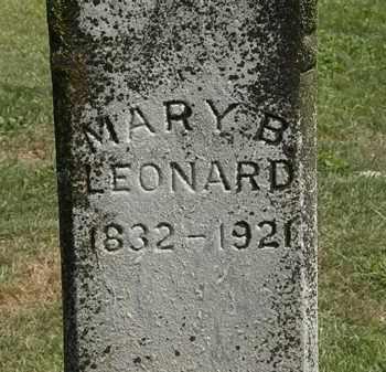 LEONARD, MARY B. - Delaware County, Ohio | MARY B. LEONARD - Ohio Gravestone Photos