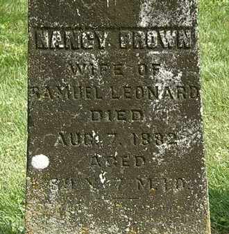 BROWN LEONARD, NANCY - Delaware County, Ohio | NANCY BROWN LEONARD - Ohio Gravestone Photos