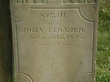 LEONARD, SARAH - Delaware County, Ohio | SARAH LEONARD - Ohio Gravestone Photos