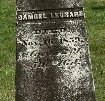 LEONARD, SAMUEL - Delaware County, Ohio | SAMUEL LEONARD - Ohio Gravestone Photos