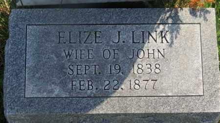 LINK, ELIZE J. - Delaware County, Ohio | ELIZE J. LINK - Ohio Gravestone Photos