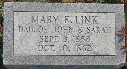 LINK, MARY E. - Delaware County, Ohio | MARY E. LINK - Ohio Gravestone Photos