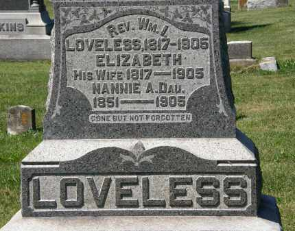 LOVELESS, ELIZABETH - Delaware County, Ohio | ELIZABETH LOVELESS - Ohio Gravestone Photos